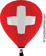 Air Balloon, Switzerland Flag