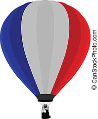 Air Balloon, France Flag - Vector illustration of France...