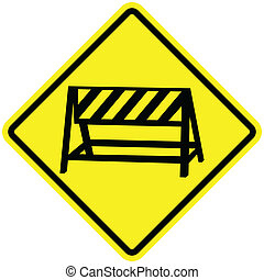 Closed Sign - Vector illustration of a crossbar