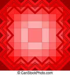 Abstract geometrical pattern, red