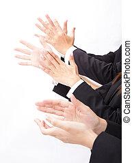 empresa / negocio, gente, aplaudiendo