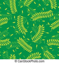 patrón, hojas, Tamarindo,  seamless