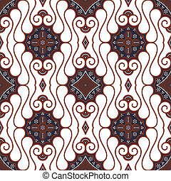 Seamless Brown White Batik Pattern - Seamless brown batik...