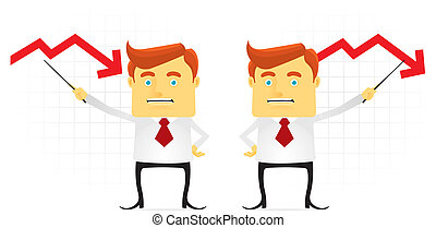 Bad Achievement - Businessman presenting bad achievement....