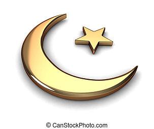 Islam Symbol - 3D Illustration Representing Islam