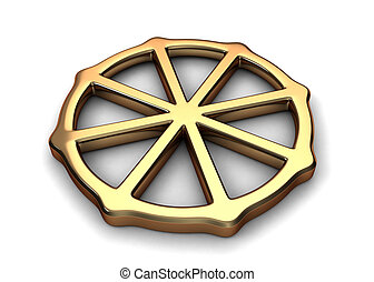 Buddhism Symbol - 3D Illustration Representing Buddhism