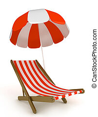 Beach Chair - 3D Illustration of a Beach Chair