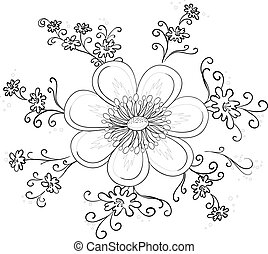 Abstract flower, contour
