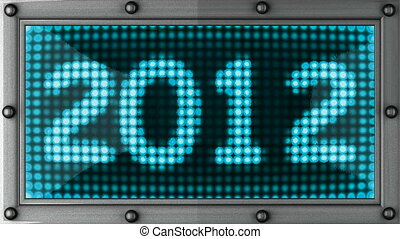 2012  announcement on the LED display