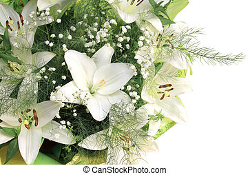 Bouquet with white lilies - Bouquet with beautiful white...