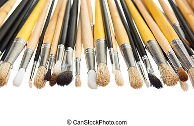 Brushes isolated on white background