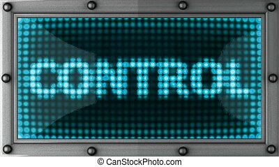 control announcement on the LED display