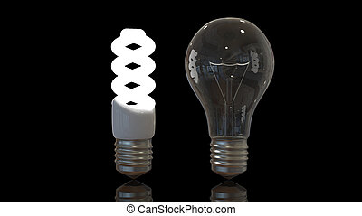 Light bulbs old and new