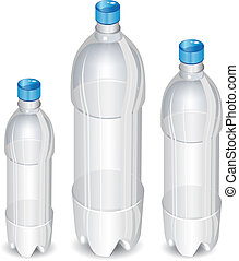 Tree plastic bottles - Plastic bottles of mineral water...