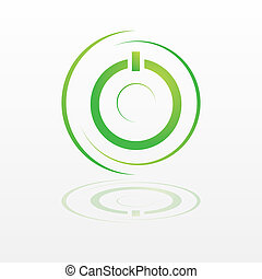 Green Power - Logotype green power ecology for company