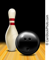 Bowling ball an bowling pin