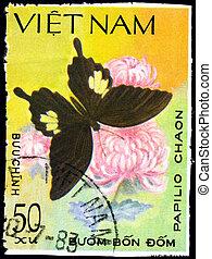 VIETNAM - CIRCA 1983 Papilio - VIETNAM - CIRCA 1983: A Stamp...