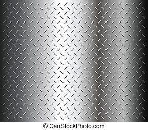 diamond plate texture - Metal diamond plate texture, vector.