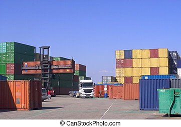 containers at the port for shipment