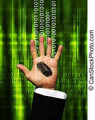Finger print on hand