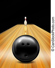 Tenpin bowling skittle illustration