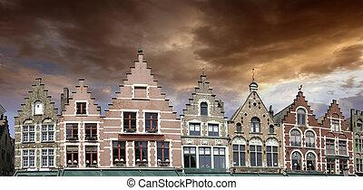 Buildings of Bruges in Belgium - Buildings of Bruges,...