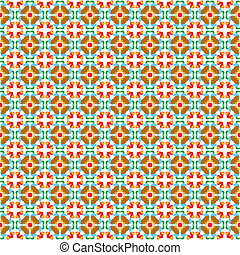 Seamless vector tiles with flower pattern - Retro style...