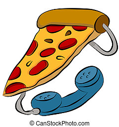 Pizza Phone Hotline - An image of a pizza phone hotline...