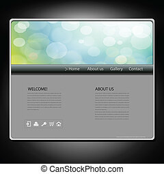Website template - Website design template, vector