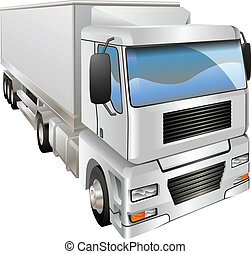 Illustration of haulage truck - An illustration of a haulage...