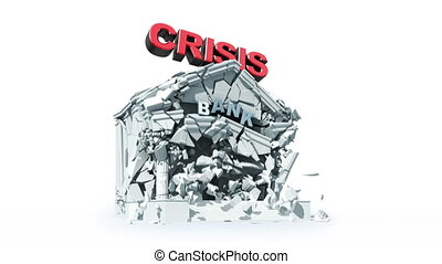 economic crisis - 	economic crisis, 3d animation