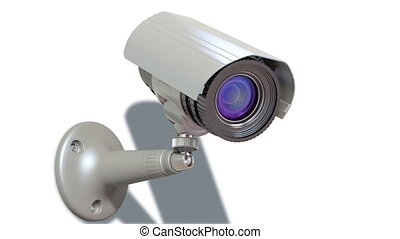 surveillance camera, loop-able 3d animation