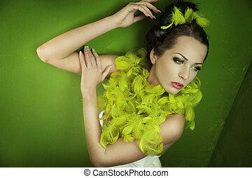 Portrait of a stunning brunette beauty
