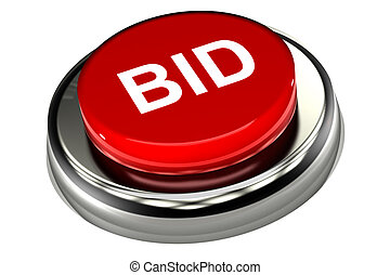 Bid Button - A Colourful 3d Rendered Bid Button Illustration...