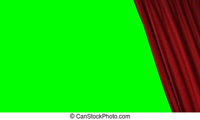 closing red curtain - closing red curtain 3d animation