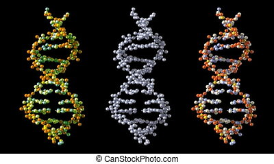 Turning DNA background, loop-able 3d animation