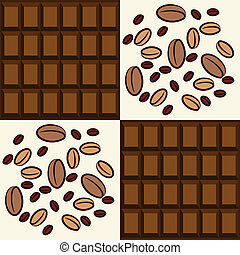 Coffee and chocolate backgrounds.