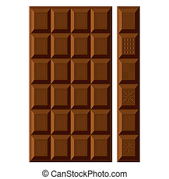 Chocolate bars set.