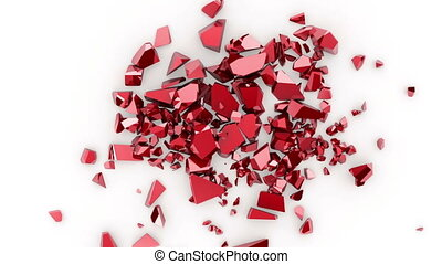 broken heart, 3d animation