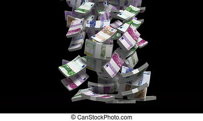 making money euro money version 3d animation