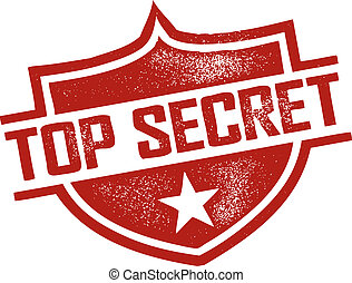 Top Secret Stamp - Rubber Stamp style top secret imprint