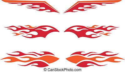 Hot Rod Flames - A selection of vector hot rod flames.