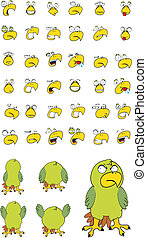 parakeet cartoon set