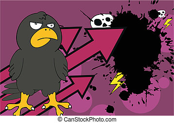 crow cartoon background