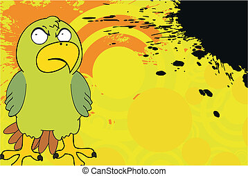parakeet cartoon background in vector format