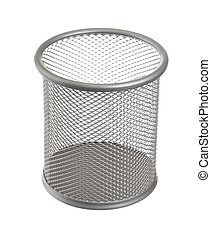 waste basket - bin isolated on a white background