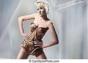 Attractive blonde posing