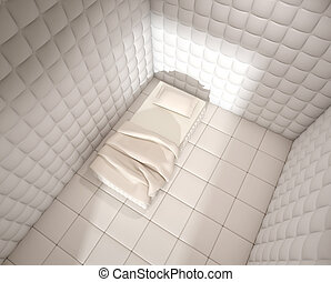 mental hospital padded room from above - mental hospital...