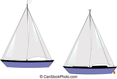 sailboats on white vector
