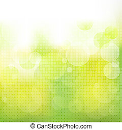 Green Natural Background With Boke, Vector Illustration